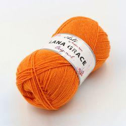 Пряжа Троицкая LANA GRACE Original (25% мериносовая шерсть, 75% акрил супер софт) 5х100г/300м цв.2410 апельсин