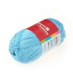 Пряжа Троицкая Алина (100% мерсеризованный хлопок) 10х50г/220м цв.2820 воздушно-голубой