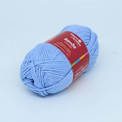 Пряжа Троицкая Ванда (100% хлопок) 5х100г/150м цв.0303 св.голубой