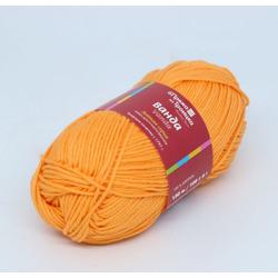 Пряжа Троицкая Ванда (100% хлопок) 5х100г/150м цв.0494 ярк.оранжевый