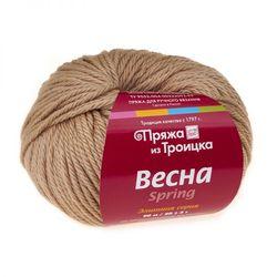 Пряжа Троицкая Весна (50% мериносовая шерсть, 25% альпака, 25% натуральный шелк) 5х50г/90м цв.0192 песочный