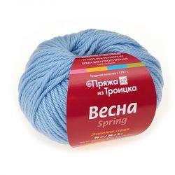 Пряжа Троицкая Весна (50% мериносовая шерсть, 25% альпака, 25% натуральный шелк) 5х50г/90м цв.2820 воздушно-голубой