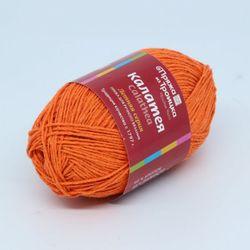Пряжа Троицкая Калатея (60% хлопок, 40% полиэстер) 5х50г/185м цв.1623 оранжевый