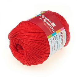 Пряжа Троицкая Крокус (100% мерсеризованный хлопок) 5х100г/160м цв.0042 красный