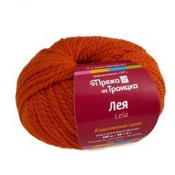 Пряжа Троицкая Лея (34% шерсть, 48% акрил, 18% ангора) 5х50г/105м цв.1623 оранжевый