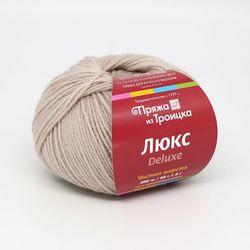 Пряжа Троицкая Люкс (100% шерсть) 10х50г/200м цв.0556 суровый лен