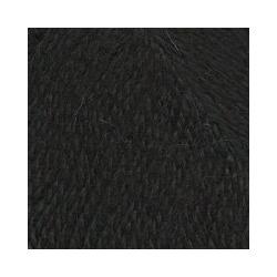 Пряжа Троицкая Подмосковная (50% шерсть, 50% акрил) 10х100г/250м цв.0140 черный