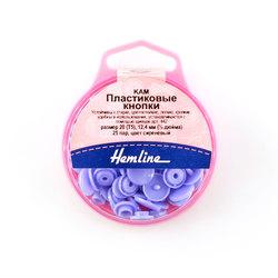 Аксессуары Hemline Кнопки пластиковые, 12,4 мм, цвет сиреневый