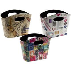 Аксессуары Hemline Сумка-контейнер с ручками для хранения мелкой фурнитуры, набор 3 дизайна