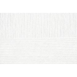 Пряжа Пехорка Детский каприз тёплый (50% мериносовая шерсть, 50% фибра) 10х50г/125м цв.001 белый