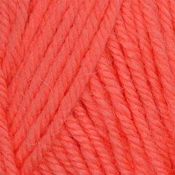 Пряжа Пехорка Детский каприз тёплый (50% мериносовая шерсть, 50% фибра) 10х50г/125м цв.1128 красный коралл