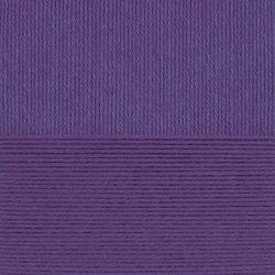Пряжа Пехорка Детский каприз тёплый (50% мериносовая шерсть, 50% фибра) 10х50г/125м цв.1131 сиреневый бархат