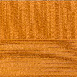 Пряжа Пехорка Детский каприз тёплый (50% мериносовая шерсть, 50% фибра) 10х50г/125м цв.447 горчица