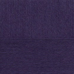 Пряжа Пехорка Детский каприз тёплый (50% мериносовая шерсть, 50% фибра) 10х50г/125м цв.484 баклажан