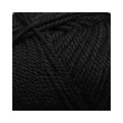 Пряжа Пехорка Мериносовая (50% шерсть, 50% акрил) 10х100г/200м цв.002 черный