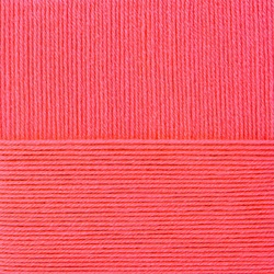 Пряжа Пехорка Народная (30% шерсть, 70% акрил) 5х100г/220м цв.058 коралл