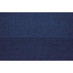 Пряжа Пехорка Виртуозная (100% мерсеризованный хлопок) 5х100г/333м цв.004 т.синий