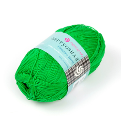 Пряжа Пехорка Виртуозная (100% мерсеризованный хлопок) 5х100г/333м цв.434 зеленый