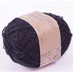 Пряжа Пехорка Кавандоли (100% джут) 5х100г/180м цв.002 черный