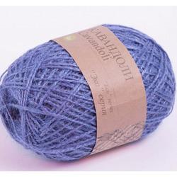 Пряжа Пехорка Кавандоли (100% джут) 5х100г/180м цв.005 (008) голубой