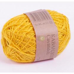 Пряжа Пехорка Кавандоли (100% джут) 5х100г/180м цв.012 (006) желток