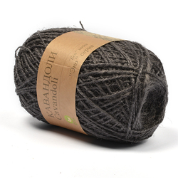 Пряжа Пехорка Кавандоли (100% джут) 5х100г/180м цв.048 (014) серый