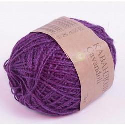 Пряжа Пехорка Кавандоли (100% джут) 5х100г/180м цв.078 (009) фиолетовый