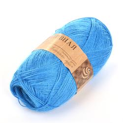 Пряжа Пехорка Крапивная (100% крапива) 5х50г/250м цв.015 т.голубой