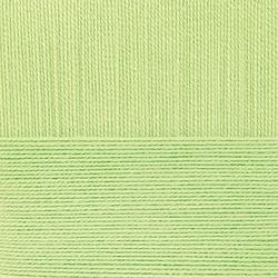 Пряжа Пехорка Летняя (100% Мерсеризованный хлопок) 5х100г/330м цв.041 салатовый