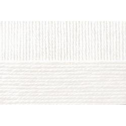 Пряжа Пехорка Молодёжная (91% акрил высокообъемный, 9% полиамид) 5х200г/280м цв.001 белый