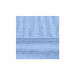 Пряжа Пехорка Нежная (50% хлопок, 50% акрил) 5х50г/150м цв.005 голубой