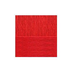 Пряжа Пехорка Нежная (50% хлопок, 50% акрил) 5х50г/150м цв.006 красный