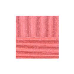 Пряжа Пехорка Нежная (50% хлопок, 50% акрил) 5х50г/150м цв.058 коралл