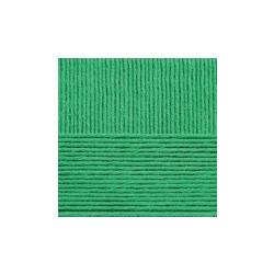 Пряжа Пехорка Нежная (50% хлопок, 50% акрил) 5х50г/150м цв.480 ярк.зелень