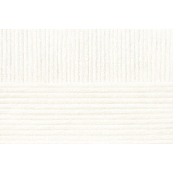 Пряжа Пехорка Удачная (50% акрил, 50% шерсть) 5х100г/250м цв.001 белый