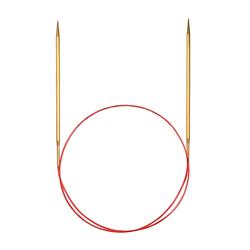 Спицы Addi Круговые позолоченные с удлиненным кончиком, №6,5, 60 см