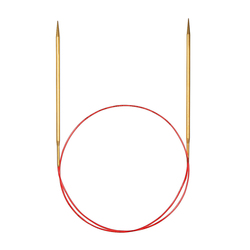 Спицы Addi Круговые позолоченные с удлиненным кончиком, №6, 60 см