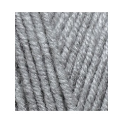 Пряжа Alize Lana Gold Plus (49% шерсть, 51% акрил) 5х100г/140м цв.021 серый меланж