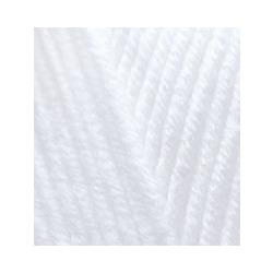 Пряжа Alize Lana Gold Plus (49% шерсть, 51% акрил) 5х100г/140м цв.055 белый