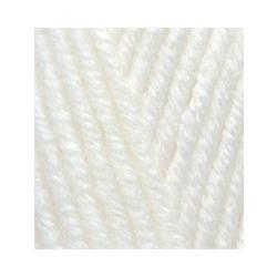Пряжа Alize Lana Gold Plus (49% шерсть, 51% акрил) 5х100г/140м цв.062 молочный