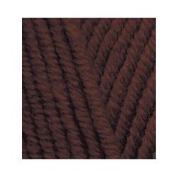 Пряжа Alize Lana Gold Plus (49% шерсть, 51% акрил) 5х100г/140м цв.026 коричневый