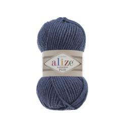 Пряжа Alize Lana Gold Plus (49% шерсть, 51% акрил) 5х100г/140м цв.381 морская волна