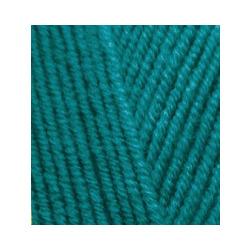 Пряжа Alize Lana Gold (49% шерсть, 51% акрил) 5х100г/240м цв.640 павлиновая зелень