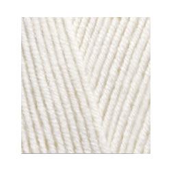 Пряжа Alize Lana Gold (49% шерсть, 51% акрил) 5х100г/240м цв.062 молочный