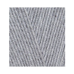 Пряжа Alize Lana Gold 800 (49% шерсть, 51% акрил) 5х100г/800м цв.021 серый меланж