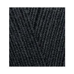 Пряжа Alize Lana Gold 800 (49% шерсть, 51% акрил) 5х100г/800м цв.060 черный