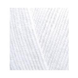 Пряжа Alize Lana Gold Fine (49% шерсть, 51% акрил) 5х100г/390м цв.055 белый