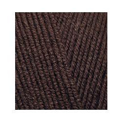Пряжа Alize Lana Gold Fine (49% шерсть, 51% акрил) 5х100г/390м цв.026 коричневый