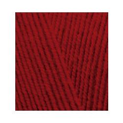 Пряжа Alize Lana Gold Fine (49% шерсть, 51% акрил) 5х100г/390м цв.056 красный