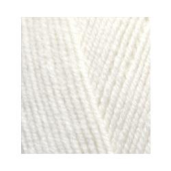 Пряжа Alize Lana Gold Fine (49% шерсть, 51% акрил) 5х100г/390м цв.062 молочный